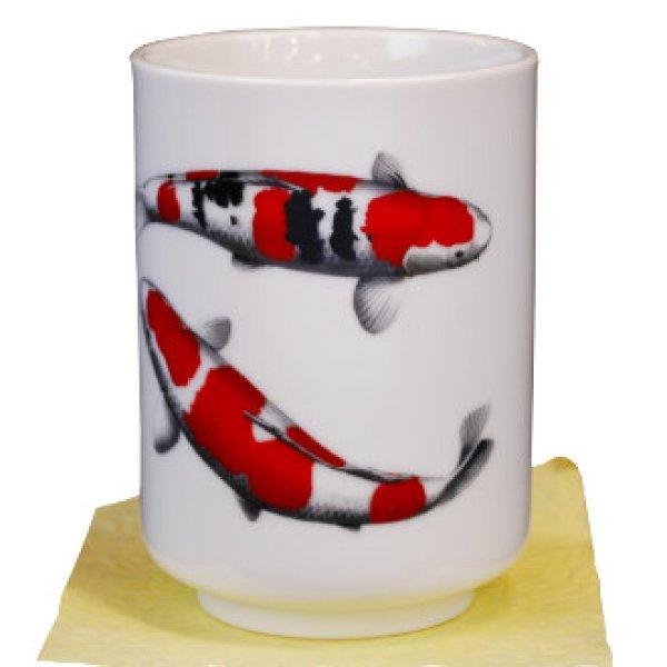 画像1: 錦鯉 湯のみ (1)