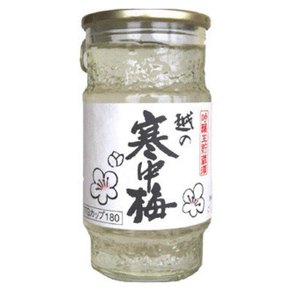 画像1: 越の寒中梅   吟醸生貯蔵カップ 180ml (1)