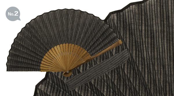 画像3: 小千谷縮 扇子 (扇子袋付)